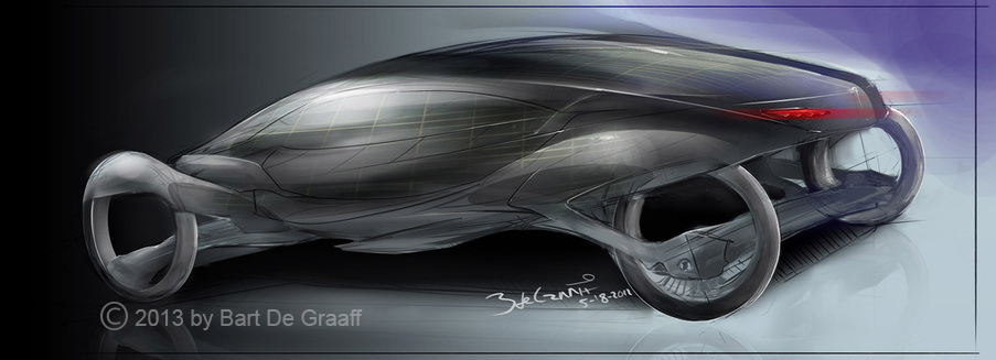 automotive art by Bart de Graaff